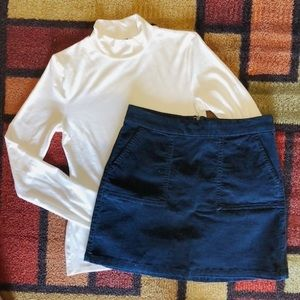 Navy Blue Mini Skirt with Pockets Size 6